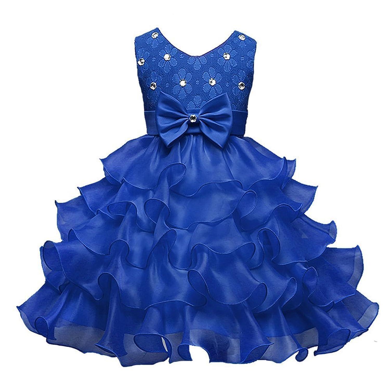 子供ドレス キッズ フォーマル 結婚式 発表会 演奏会 誕生会 パーティ 女の子用 子供服 ちょう結びの装飾ドレス