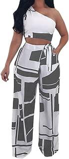 Hatoppy Women Nightclub Fashion Clothes Club Sexy Strapless Bandage Two Piece Set (XL, Gray)