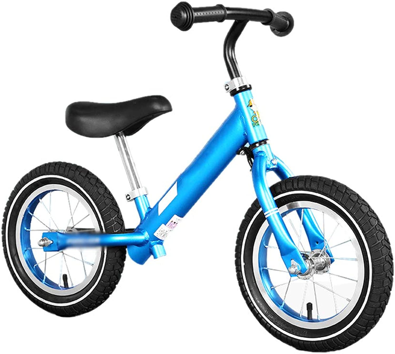 preferente Bicicletas sin pedales pedales pedales Balance Bike No Pedal Toddler Bike para Niños, Marco de aleación de Aluminio con neumáticos de Aire (Color   Azul)  buscando agente de ventas