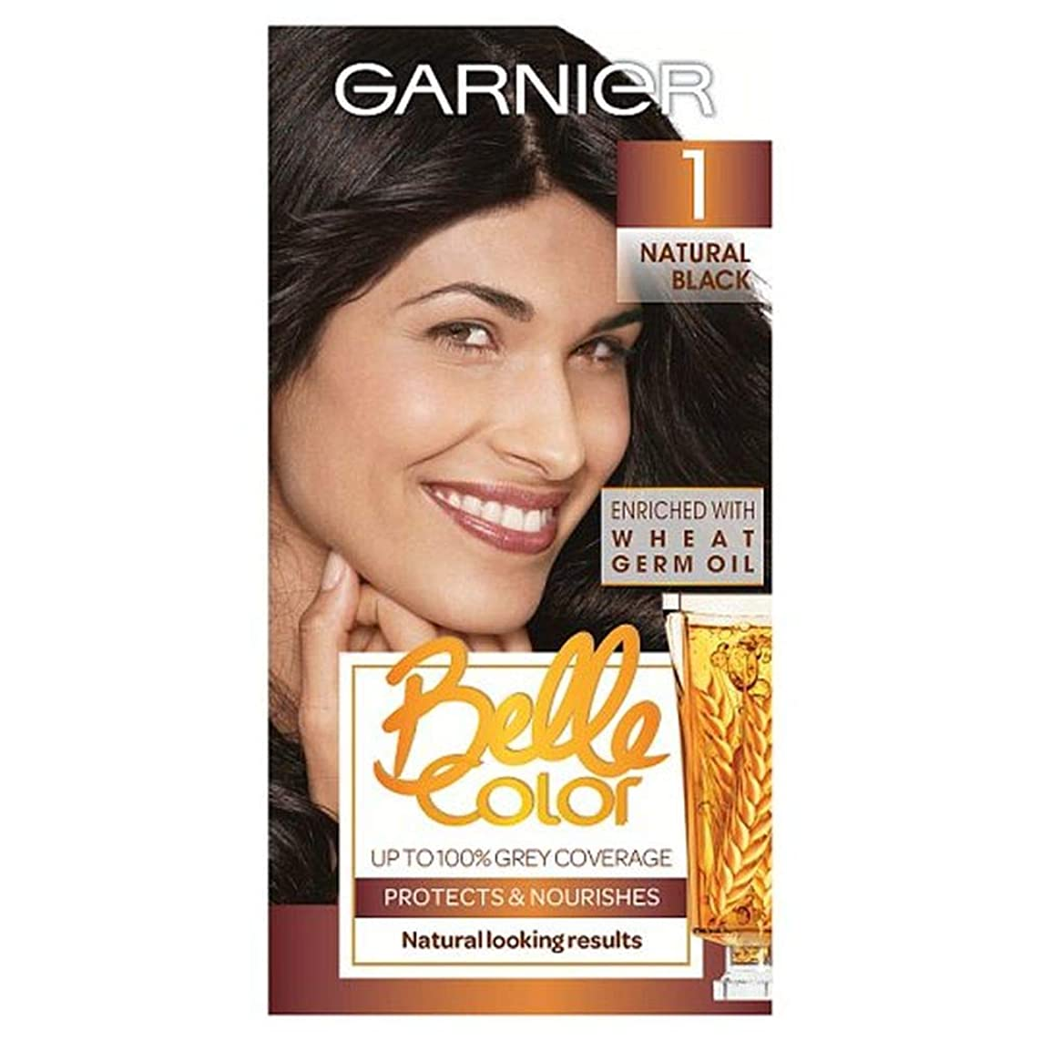 させるワイヤーピケ[Belle Color ] ガーン/ベル/Clr 1黒のパーマネントヘアダイ - Garn/Bel/Clr 1 Black Permanent Hair Dye [並行輸入品]