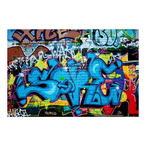 Bilderwelten Fotomural - Colours of graffiti - Mural apaisado papel pintado fotomurales murales pared papel para pared foto 3D mural pared barato decorativo, Dimensión Alto x Ancho: 255cm x 38