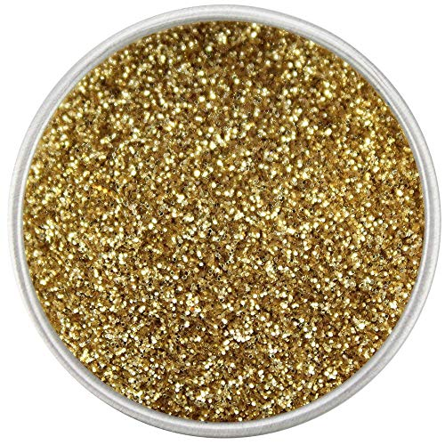 Get Thread Gold Holographic Dessert Glitter | Fancy Easter Sprinkles Baking Decoration | Non Toxic Fine Cake | Disco Hologram Lust Dust For Cakes, Cupcakes, Fondant & Edible Strawberries (5 grams)