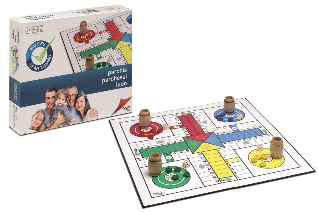 Cayro -Parchís XXL- Juego de Mesa Tradicional - Juego de cooperación Desarrollo de Habilidades visuales y lógico-matemáticas - Juego de Mesa (792): Amazon.es: Juguetes y juegos