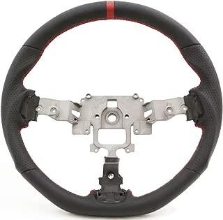 PROMOTORING For Handkraftd 05-14 Mazda Miata NC Flat Bottom Steering Wheel - Black w/Red Stitch