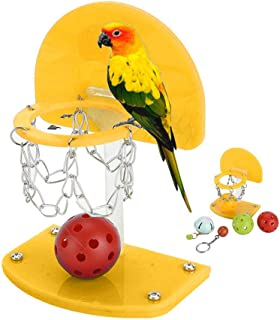 Parrot Basketball toy for Small Size Parrot Macaw African Greys Cockatoo Cockatiel Eclectus Budgie Lovebirds Conures Parakeet Agility Training