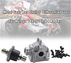 HHoo88 Metal Gear Box Shell Cover+Differential Gear+Screws for WLtoys 144001 1/14 RC Car - Upgrade Replacement Spare Parts...