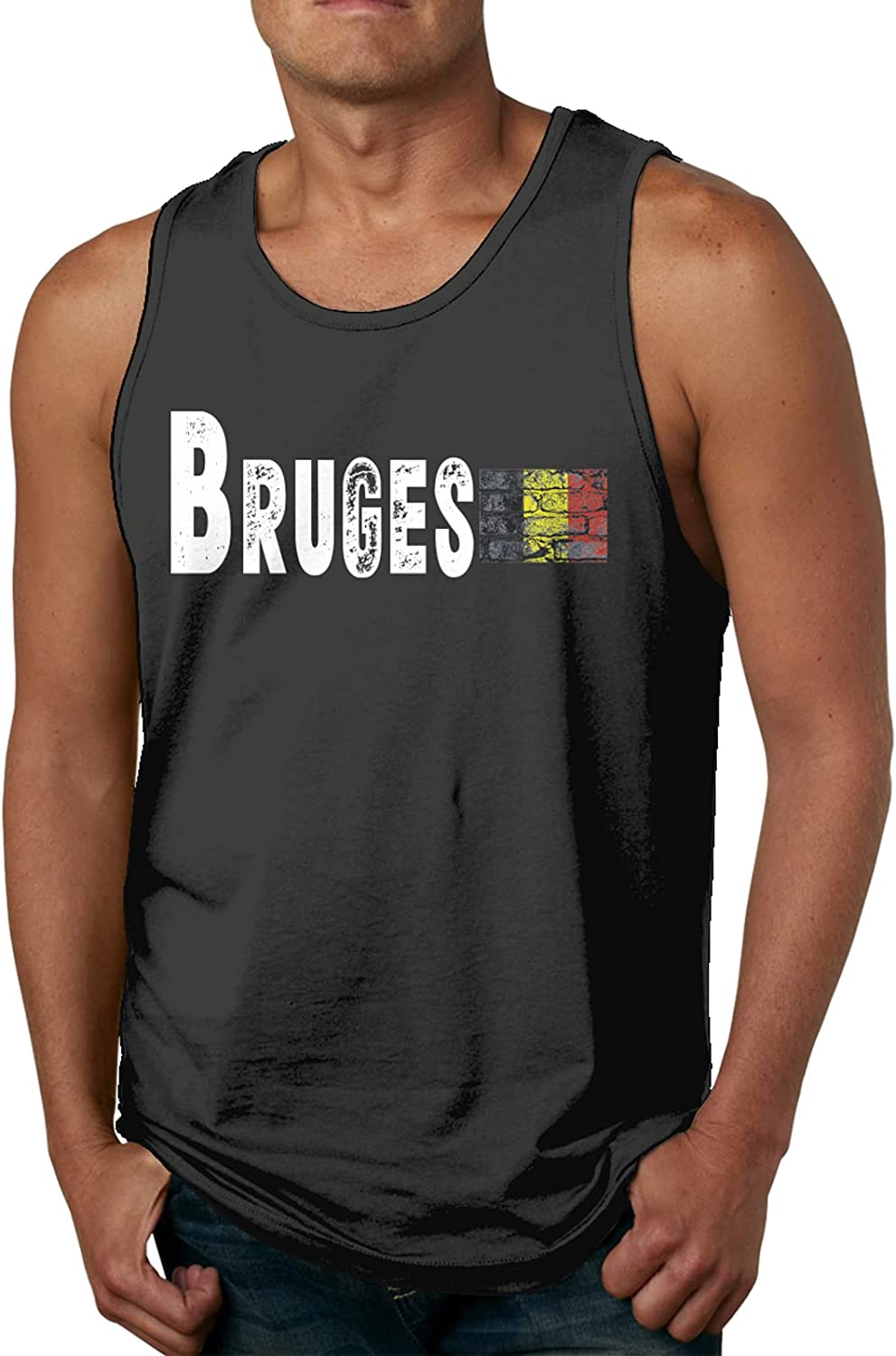 Bruges Columbus Mall Mens Slimming Compression Muscle Sleeveless Casual Tank S Rare
