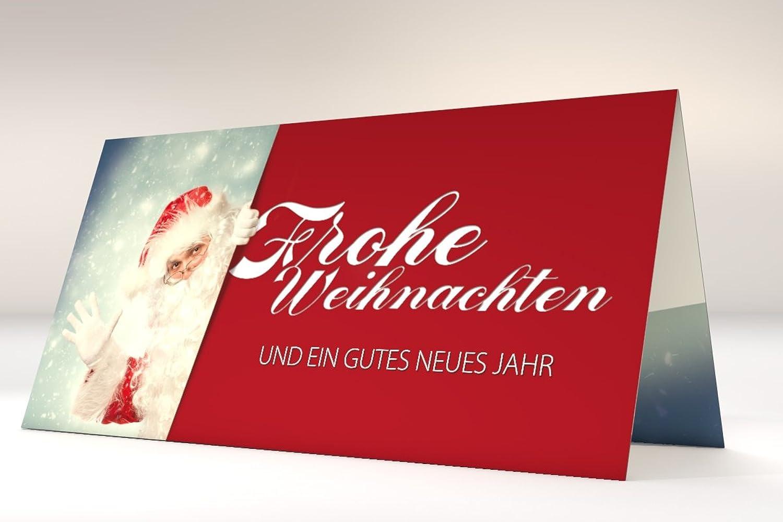Weihnachtskarten DER Weihnachtsmann, 100 Stück Weihnachtskarten, Klappkarten Grußkarten selbst selbst selbst bedruckbar B077BF8KD3    Verschiedene Stile  be2f23