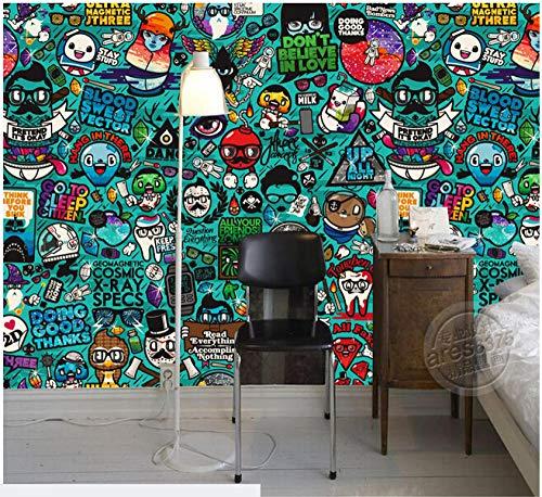 Wandaufkleber Benutzerdefinierte Kindertapete Graffiti-Wandbild Kinderzimmer Gartenwand-400Cmx280Cm