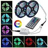 Tira de LED Decoracion de Luces RGB Multicolor Control Remoto de 44 con Cable USB para Decoración de Casa/Habitacion/Jardín/Fiesta (No Impermeable, 5M)