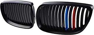 Astra Depot Kidney Grille Compatible for BMW 3-Series 07-10 E92 Coupe E93 Convertible 08-13 M3 2DR (Single Line, Matte Black M Color)