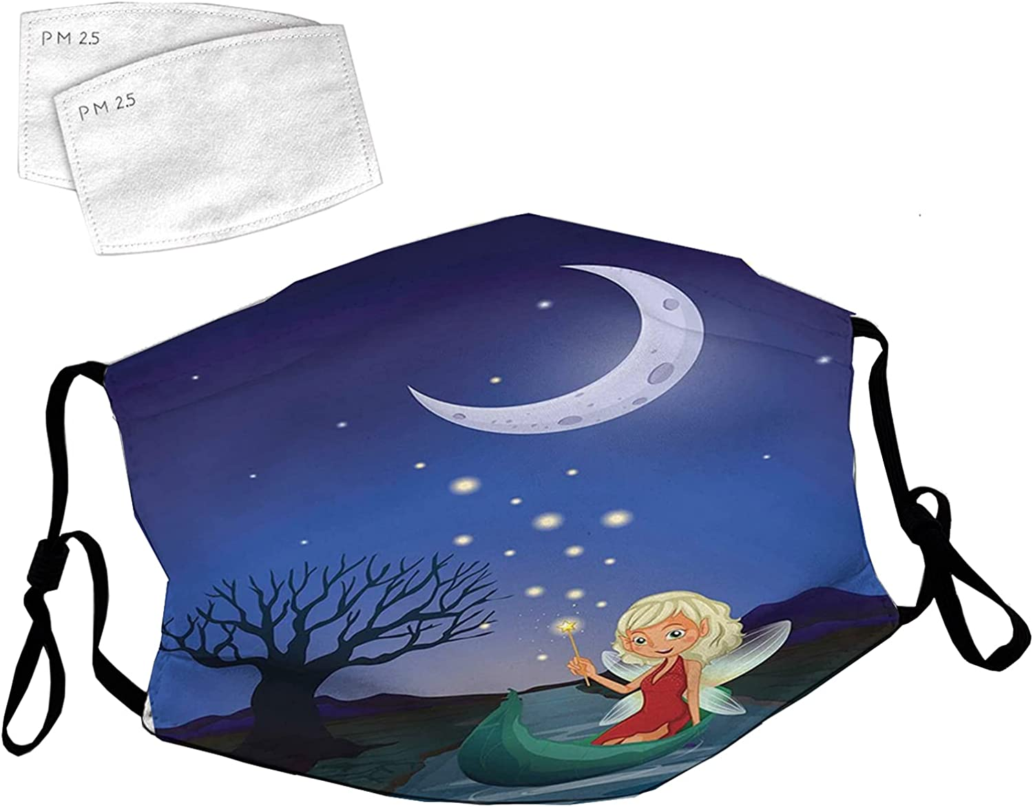 Reusable Face Mask with Adjustable Ear Elf o Sitting unisex Pixie Loops Excellence