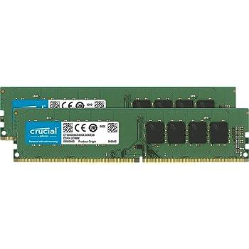 Crucial CT2K4G4DFS824A 8GB Kit (4GB x2) Speicher (DDR4, 2400 MT/s, PC4-19200, Single Rank x 8, DIMM, 288-Pin)