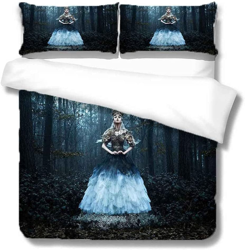 PYCXYI Duvet Cover Set Twin Over item handling ☆ Popular brand in the world Bed Girl 3Pcs Woods Blue Pattern Ea