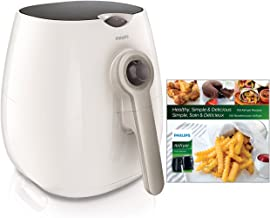 Philips Starfish Technology Airfryer with Cookbook, White - 1.8lb/2.75qt- HD9220/58