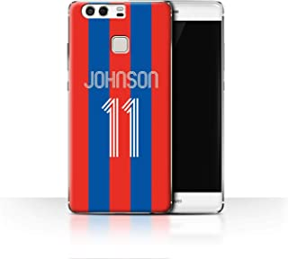 Personalized Custom Soccer Club Jersey Shirt Kit Case for Huawei P9 / Red Blue Stripes Design/Initial/Name/Text DIY Cover