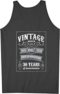 Vintage Made In 1987 30 Years お誕生日 男性用 Tank Top Sleeveless Shirt
