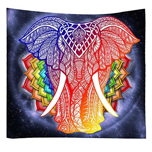 Bubinix Tapiz de Pared para Dormitorio, salón, Colgante, Indio, Bohemio, Cielo Estrellado, Mandala, Elefante, Bosque Tapices Alfombra de Pared 150 x 230 cm (Style 6)