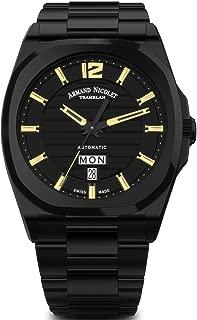 Armand Nicolet Gents-Wristwatch J09 Day&Date Date Weekday Analog Automatic A650AQN-NC-MA4650NA
