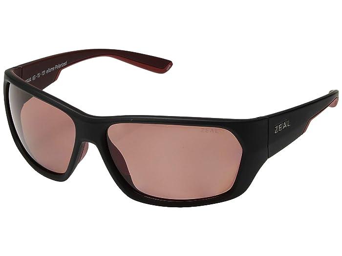 Zeal Optics  Caddis (Matte Brick/Polarized Rose Lens) Polarized Fashion Sunglasses