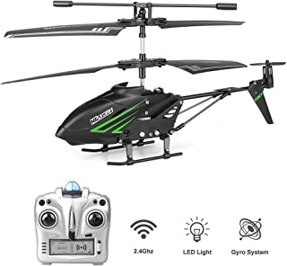 HiStorm Remote Control Helicopter RC Helicopter with Gyro and LED Light 3.5 Channels Alloy Mini Helicopter Micro RC Helicopter Toy for Kids & Adult Indoor