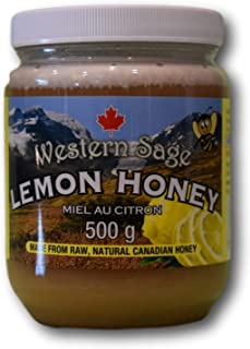 Western Sage Lemon Honey- Raw Natural Canadian Honey