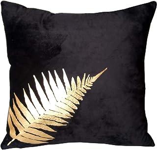 ZUODO Black Velvet 18 x18 Inches Square Pillow Covers Soft Velvet Cushion Covers 45 x45 cm Decorative Throw Pillow Cushion...