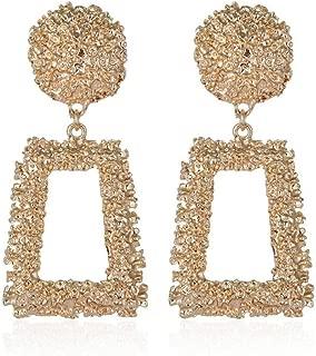 Big Vintage Earrings for Women Geometric Statement Earring 2019 Metal Earing Hanging Fashion Jewelry Gifts Gold
