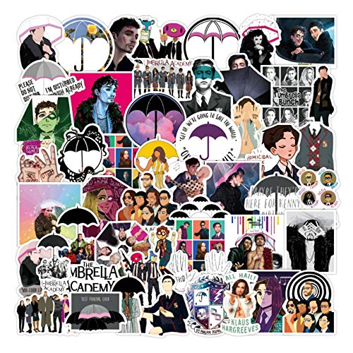 50Pcs The Umbrella Academy American TV Cartoon Sticker for Laptop Computer Skateboard Case Helmet Toy Stickers