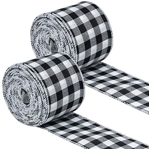 RUSPEPA Cinta Universal Con Cable - 2 Rollos Cinta A Cuadros En Blanco Y Negro - 63 mm X 9.14 m Cada Rollo