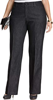Lee Platinum Womens Plus Size Monaco Trousers (Black Retro, 24W)