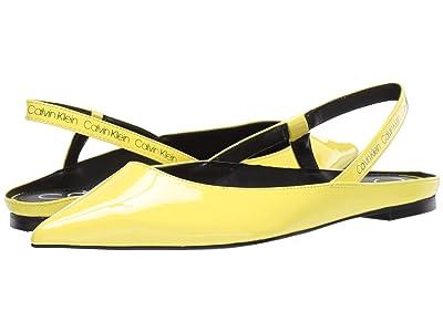 Calvin Klein Maya (Yellow Flou Crinkle Patent) Women