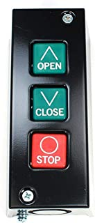Commercial Garage Door Opener Three Button Wall Mount - PBS 3 Station. NEMA 1 Rated