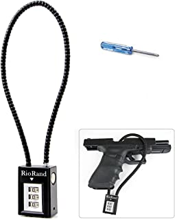 Trigger Lock 3 Digit Combination 15 Inch Gun Cable Lock Fits Pistols Hand Gun Rifles Bb Gun Shotguns