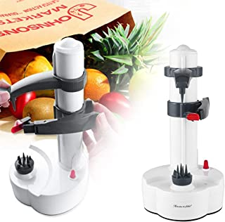 Lorenlli Peeling eléctrico de Frutas y Verduras máquina de pelar de Acero Inoxidable Naranja Peeler automático
