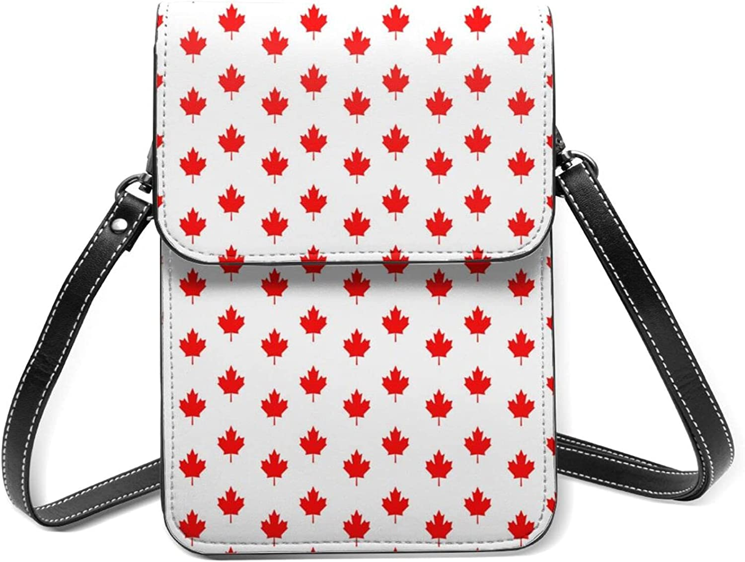 Maple Leaf Of Canada Small Cell Flip Lightweight Purse All items free shipping Phone Wit Max 42% OFF