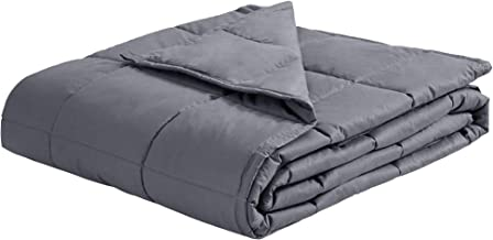"""puredown Luxury Weighted Blanket Breathable Cotton Cover with Glass Beads Heavy Blanket 48""""x 72"""" 12 lbs Grey"""
