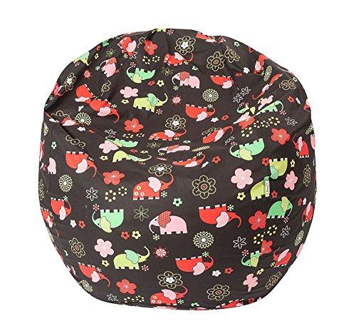 Joyfill Sitzsack mit Bezug, Stuhl für Kinder und Erwachsene, Weicher Stoff, 240L groß - 586 Elefant