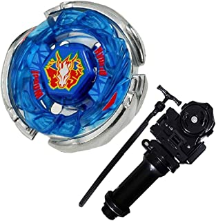 Lost Best BB-28 Storm Pegasus Metal 4D High Cosmic Pegasus l Drago Masters Fusion Metal Performance Game Toys and Bey Ruler String Launcher and Launcher Grip(Black) Gift Toys for Children