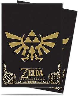 Ultra Pro Legend of Zelda - Hyrule Crest Standard Deck Protectors - Black/Gold (65 ct.)