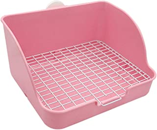 Pet Small Rat Toilet, Square Potty Trainer Corner Litter Bedding Box Pet Pan for Small Animal/Rabbit/Guinea Pig/galesaur/F...