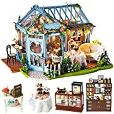 CUTEBEE Puppenhaus Miniatur mit Möbeln, DIY Holz Puppenstuben-Kit, Maßstab 1:24 kreativer Raum...