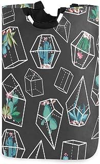 N\A Panier à Linge, Fleur de Cactus paniers de Rangement pour Le Linge géométrique vêtements Pliables Sac Organisateur de ...