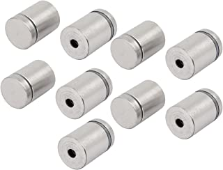uxcell 25mmx18mm Advertising Nail Glass Table Spacers Standoff Fixing Mount Bolts 9pcs