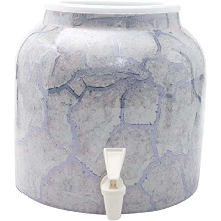 Bluewave Lifestyle Gray Bluewave Marble Purple Design Beverage Dispenser Crock