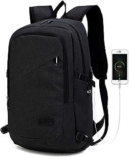 Kono Mochila Portatil para Hombre con Puerto de Carga Externa USB para Macbook y Netbook Negocio-35L (Negro)