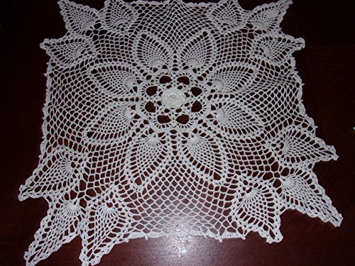 Tablecloth Square - Large Lace - Pineapple - Doily - Centerpiece - Square Lace - Home Decor