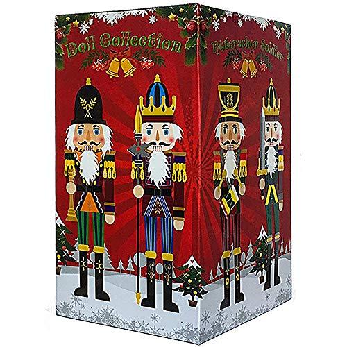 4 Stück 30cm Nussknacker Figuren Weihnachtsdekoration Figur Soldat Puppensammlung Ferienhaus Dekor Anlass Ornament Dekoratives Spielzeug Set Kind