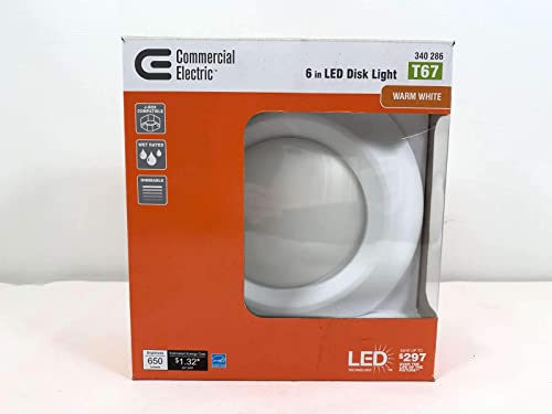 new arrival Commercial Electric popular 6 in. Warm White Recessed lowest LED Can Disk Light outlet online sale