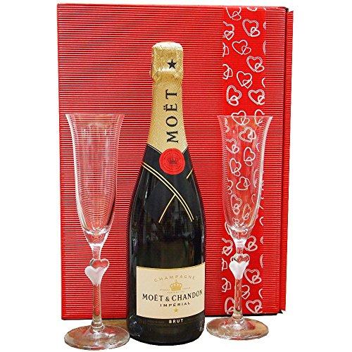 Moet & Chandon Geschenk-Set zur Hochzeit mit Gläsern